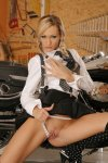 eva in a black miniskirt strips naked by a two tone road king 004.jpg